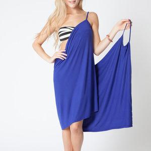 BEACH HAUS Swim - BEACH HAUS SWIMSUIT Coverup Wrap Dress COBALT BLUE